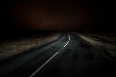 (Rob Chiu) Tags: road light rain night canon glow north moors after distance markings northyorkshire 35mm14l sonya7rmkii