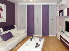 cortinas de panel japons en color morado - Cortinas Moradas