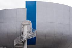 stairway to future (zora_schaf) Tags: modern munich mnchen grau ufo stairway future architektur blau schssel bmwmuseum wendeltreppe zoraschaf stairwaytofuture