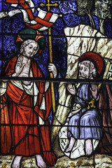 Risen Christ appears to Cephas (Lawrence OP) Tags: glasgow saints stainedglass lord medieval peter risen biblical burrellcollection stpeter jesuschrist resurrection