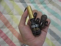 Desafio das Sries - Viva Negra (Risqu) (Daniela nailwear) Tags: glitter preto risqu esmaltes coloreffect vivanegra mofeita desafiodassries