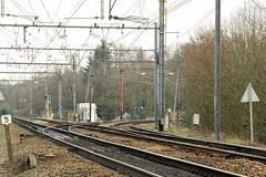 Lier wissel op lijn 15 en lijn 16 (Ervanofoto) Tags: railroad nikon belgium belgique belgi eisenbahn rail d200 spoor lier spoorwegen belgien spoorweg nmbs chemindefer lijn16 lijn15 sncb spoorlijn eisenbahnstrecke kloosterheide ervanofoto