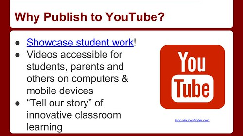 Why Publish to YouTube? by Wesley Fryer, on Flickr