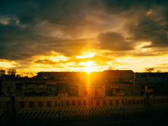Der Himmel ber Berlin. (mjaysplanet) Tags: sunset sky sun berlin clouds germany europe place dusk things february rummelsburg subjectmatter