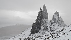 Snowstorm, Old Man of Storr (Jonathan_Grundy) Tags: uk snow skye landscape pinnacle trotternish oldmanofstorr