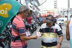 Comandante da Guarda Municipal, Rodrigo Barreto instruiu pedesters sobre campanha do Disque-Denuncia - foto Sandro Giron (2) (itaborairj) Tags: policia guarda 16022016 disquedenuncia