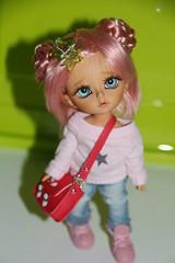 Noa (tatitun1) Tags: pink blue eyes doll dolls skin tan wig bjd limited noa olimpus latidoll olimpos lati