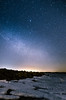 Starry night (Konalley) Tags: old longexposure blue winter seascape cold tree night suomi finland stars t landscape frozen rocks icicles maisema yö tähdet tähtikuvaus starphotography nikond7000 sigma1770mmf284dcmacrooshsm wideanglenightlandscape