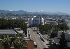 Mt. Baldy and Other Snow Capped Mountains (Robb Wilson) Tags: mountains losangeles downtownla snowcappedmountains hillstreet