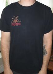 #1722A 88 Fingers Louie - 88 Fingers Lives (Minor Thread) Tags: chicago black records grave rock shirt vintage punk tour tombstone tshirt il merch hopeless minorthread fatwreck cocnert 88fingerslouie tshirtwars 88fingerslouielives
