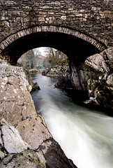 Betws-y-Coed (HannahGE) Tags: longexposure travel bridge motion blur mountains water stone wales river landscape movement scenery pont snowdonia