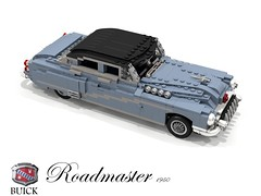 Buick 1950 Roadmaster Saloon (lego911) Tags: auto usa classic car america sedan buick model gm lego general render harley motors chrome 1950s earl saloon luxury 1950 cad povray roadmaster moc ldd miniland lego911