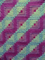 Log cabin quilt (suey_j) Tags: quilt sewing craft blanket quilting rug throw
