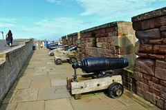 Cannon at Bamburgh Castle (Eddie Crutchley) Tags: england castle outside europe northumberland cannon bamburgh historicbuilding bamburghcastle
