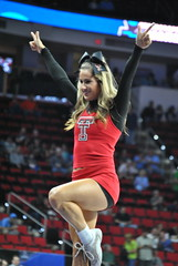TEXAS TECH CHEERLEADER (SneakinDeacon) Tags: basketball cheerleaders tournament butler ncaa bulldogs texastech marchmadness big12 bigeast redraiders pncarena