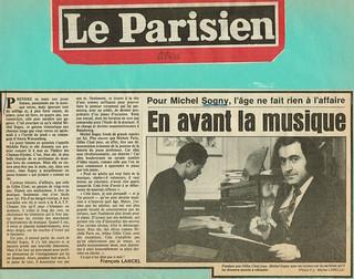 MICHEL SOGNY PRESSE LE PARISIEN MAI 1981