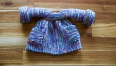 Knit housecoat (Squishy Love Handmade) Tags: doll waldorf steiner waldorfdoll knitdollclotheswaldorfdollclothswaldorfclothes