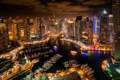 Dubai Marina (gags9999) Tags: tower night marina dubai cityscape nightscape skyscrapers uae hdr dubaimarina cayan
