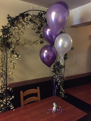 Tafeldecoratie 5ballonnen Brasserie 2eat Roosendaal