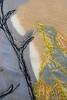 Yellow bird (Mónica Leitão Mota) Tags: trees bird yellow paper mixedmedia fabric fiberart textileart