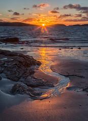Barra Sunrise (David Jones 2) Tags: beach sunrise scotland near outer barra hebrides eoligarry