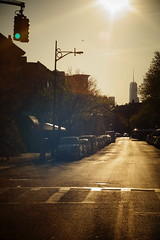 City View. (Juliet everywhere) Tags: nyc newyorkcity light sunset sunlight newyork streets skyline architecture brooklyn buildings cityscape skyscrapers pentax takumar sony streetphotography newyorker f16 55mm m42 williamsburg oldlens filmlens sonyalpha cityphotography sonyimages sonynex