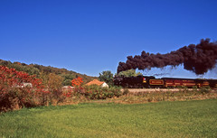 Early Peak Fall Foliage and Steam (craigsanders429) Tags: steamtrain steamtrains passengertrains steamlocomotives passengercars excursiontrain ohiocentralrailroad excursiontrains ohiocentral1293 ohiocentralsystem steamexcursions canadianpacific1293 jewettohio