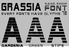 Grassia Family Fonts (vndorstock) Tags: shadow college sport tattoo modern vintage poster athletic tech display snake decorative grunge wide machine line used headline headlines font techno python washed effect exclusive bold typeface ttf truetype