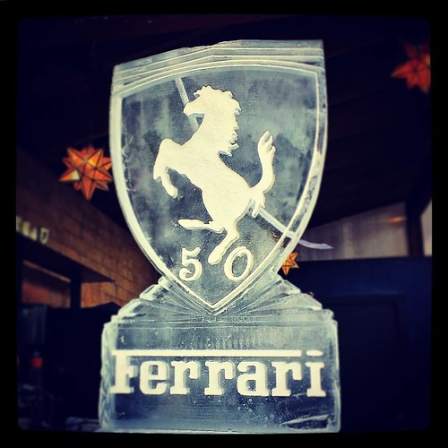 Celebrating a 50th #birthday in style with this @ferrarimotorsport #iceluge #austin #fullspectrumice #thinkoutsidetheblocks #brrriliant - Full Spectrum Ice Sculpture