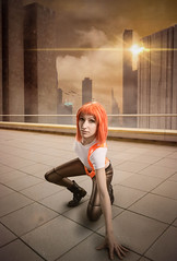 Leeloo (Nebulaluben) Tags: sergio photomanipulation photoshop painting costume cosplay photomontage luc cosplayer vela leeloo element matte fifth besson nebulaluben