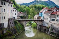 Kapucinski most (E-klasse2010) Tags: old bridge water river town outdoor medieval most slovenia historical oldest sora watercourse loka cappuchin selca skofja kapucinski