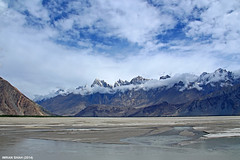 Somewhere in Khaplu (gilgit2) Tags: pakistan sky snow mountains ice water clouds canon river landscape geotagged rocks desert wide tags location elements vegetation tamron cloudscapes summits khaplu ghanche gilgitbaltistan canoneos650d imranshah gilgit2 tamronsp1750mmf28dillvc
