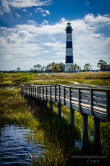Bodie Lighthouse and Walk (Ron Harbin Photography) Tags: lighthouse beautiful clouds day northcarolina sunny bodie obx outerbanksnc