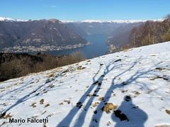 Italy: Brunate (Como): Como lake (mariofalcetti) Tags: italy mountain snow landscape italia comolake lagodicomo triangololariano