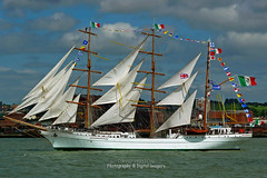 TALL SHIP ON THE RIVER MERSEY (David~Preston) Tags: uk england sails flags tallship wallasey merseyside egremont rivermersey thewirral