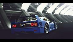 Ferrari F40 (Thomas_982) Tags: auto blue italy cars valencia night spain italian ferrari gt6 granturismo f40 ps3 gt5 cavallino rampante