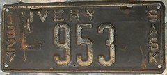 SASKATCHEWAN 1927 ---LIVERY LICENSE PLATE (woody1778a) Tags: canada vintage collection collector numberplate registrationplate 1935 1927 mycollection saskatchewanhistory myhobby saskatchewanplates