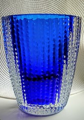 Ingrid Glas - Handblown Signed Heavy Glass Vase (IG 3079 or 3075) (Ahornblatt2012) Tags: blue ingrid glass vintage germany design kurt retro vase glassworks glas signed ig midcentury handblown spaceage mcm euskirchen westgerman 3075 wokan ingridhtte blockvase