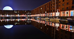 Albert Dock Reflections (Kev_Barrett) Tags: city longexposure urban art skyline architecture composition liverpool reflections landscape nikon cityscape nightlights perspective cityscapes engineering nightshots lighttrails mersey albertdock cityscene merseyside nikond3200 d3200 originalfilter