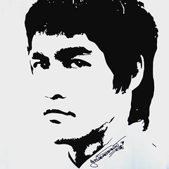 Bruce Lee (19Abigail91) Tags: blackandwhite art illustration pen paper sketch graphics artist gallery graphic drawing bruce creative picture artsy lee draw brucelee masterpiece
