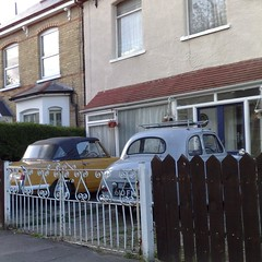 () (uk_senator) Tags: 1955 yellow austin grey triumph 1970 herald a30