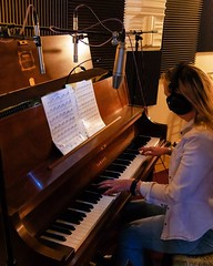 Sue Ellen Miller recording piano (hopetownsound) Tags: piano nj jazz yamaha acoustic classical keyboards pianist hopewell recording recordingartist recordingstudio hopetownsound