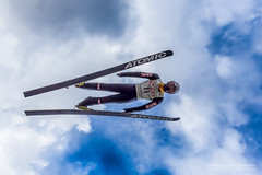 What's up? (Normann Photography) Tags: ski norway photoshop norge fly flying jump no lookup suit airborne beneath whatsup intheair holmenkollen skijumper