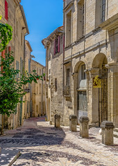 Uzs in the narrow typical streets of the city. (capvera) Tags: streets medieval typical narrow gard uzes