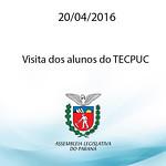 Visita dos alunos do TECPUC 20/04/2016