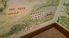 Map of the Hundred Acre Wood (splinky9000) Tags: new york city usa united states of america nyc public library childrens center aa milne winnie the pooh original dolls artifact hundred acre hood map eeyores gloomy place rather boggy and sad 100 aker