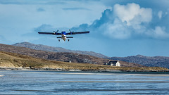 Taking off from the Beach at Traigh Mhor (David Jones 2) Tags: beach bay scotland airport outer barra hebrides mhor traigh