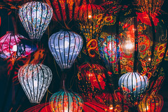 Hanging Lanterns of Hi An (peter stewart | photography) Tags: travel red abstract color art tourism lamp asia vietnamese pattern decoration deep culture an vietnam lanterns hanging handcrafted hoi