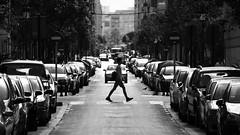 Anem anant (lluiscn) Tags: street bw cars persona calle bn pas blanc carrer coches negre cotxes valncia prohibit senyals senyal peatn cames xiquet russafa vianants estudiant vianant trfic alumne