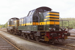 SNCB 7356 NEVADA (bobbyblack51) Tags: sncb class 73 c bn cockerill diesel shunter 7356 nevada antwerpen dam depot 1998